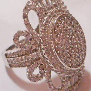 Victorian Style BELLA LUCE CZ & Sterling Ring! 5